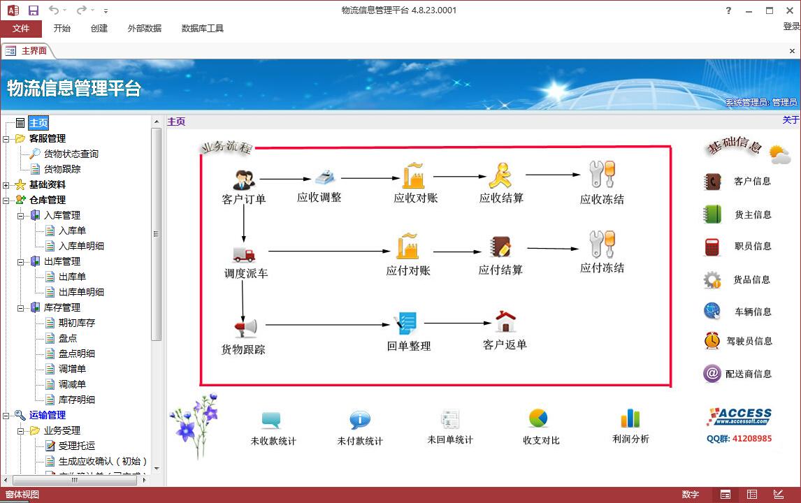 信息管理与信息服务_物流信息管理平台-Access软件网