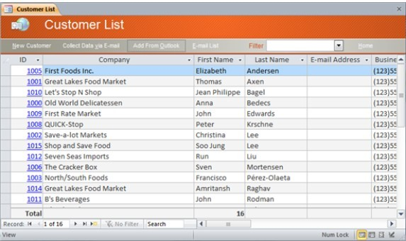 customer list Download a free sales contact list spreadsheet to organize and track your prospects and customers.